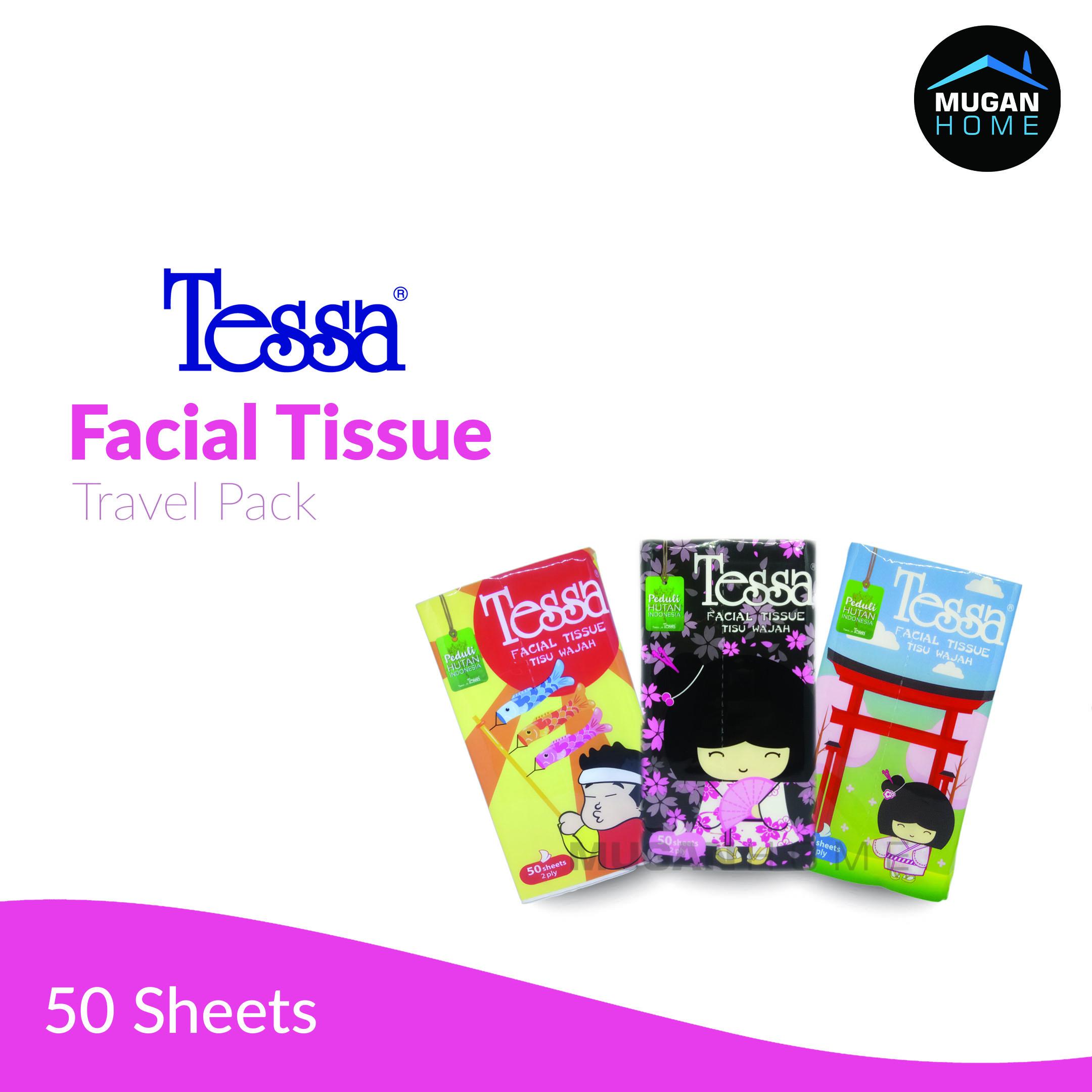 TESSA  FACIAL TISSUE TRAVEL 50SHEETS