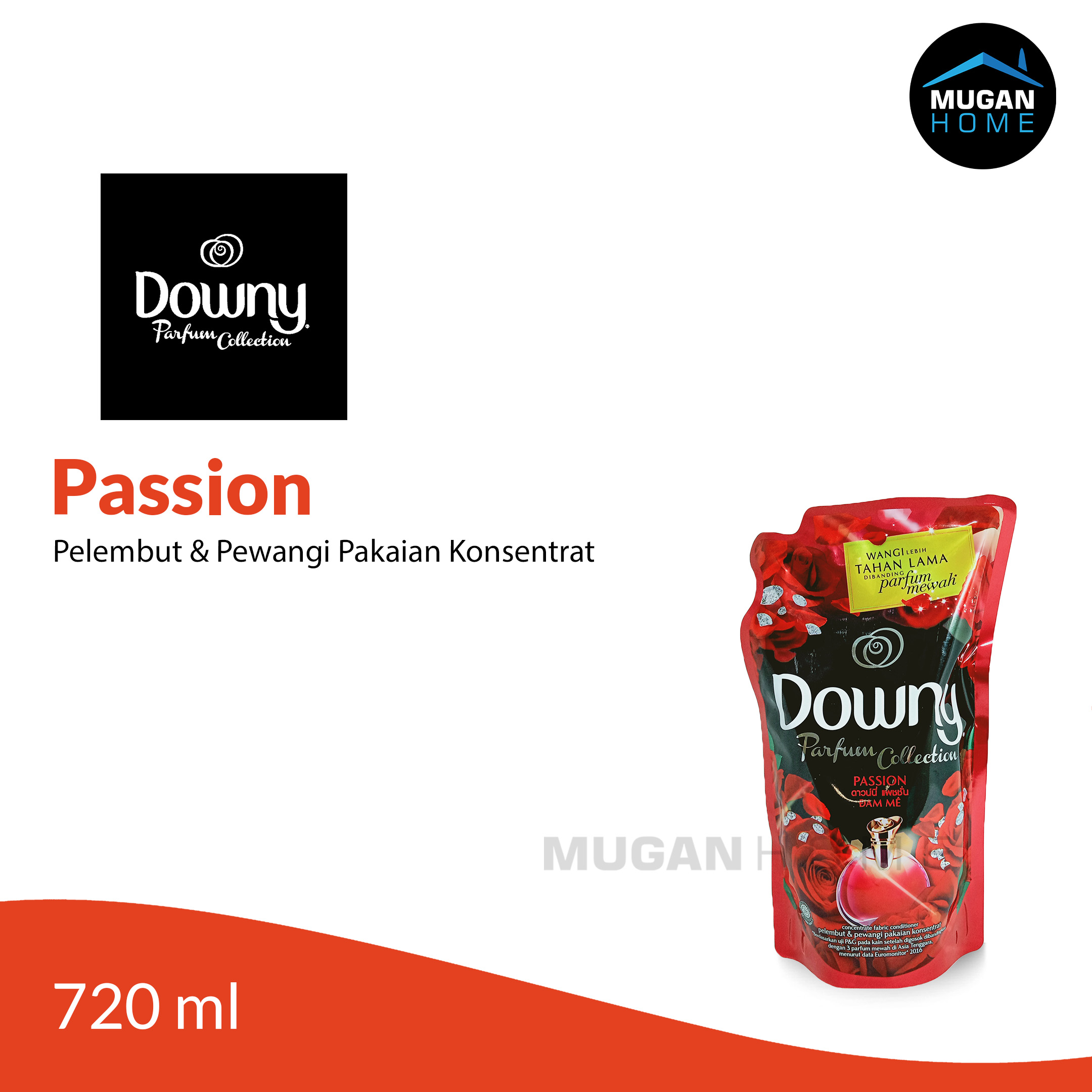 DOWNY PARFUM COLLECTION PELEMBUT PAKAIAN 720ML PASSION REFILL POUCH