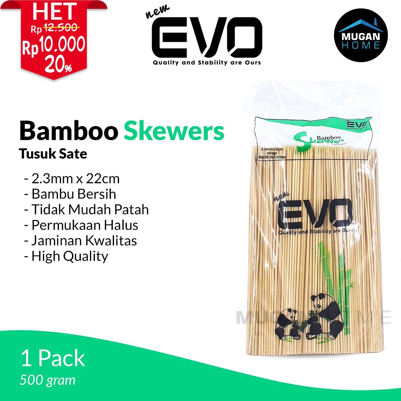 BAMBOO SKEWERS NEW EVO 500GRAM 2.3MM*22CM