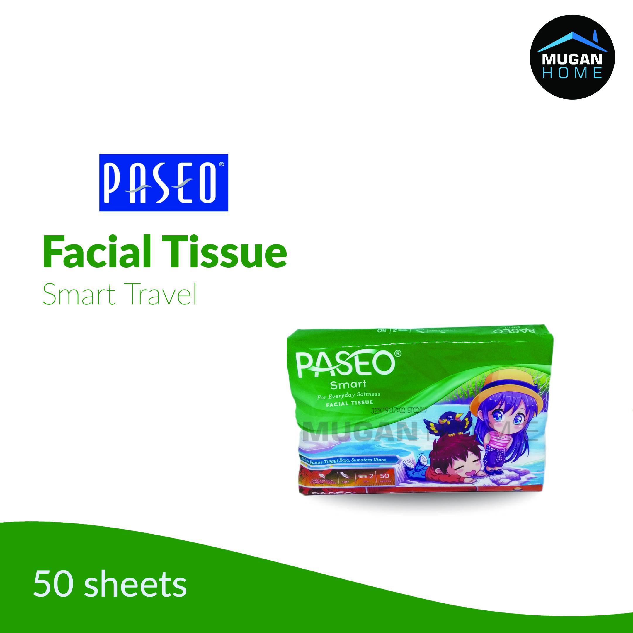 PASEO SMART FACIAL TRAVEL PACK 50SHEETS