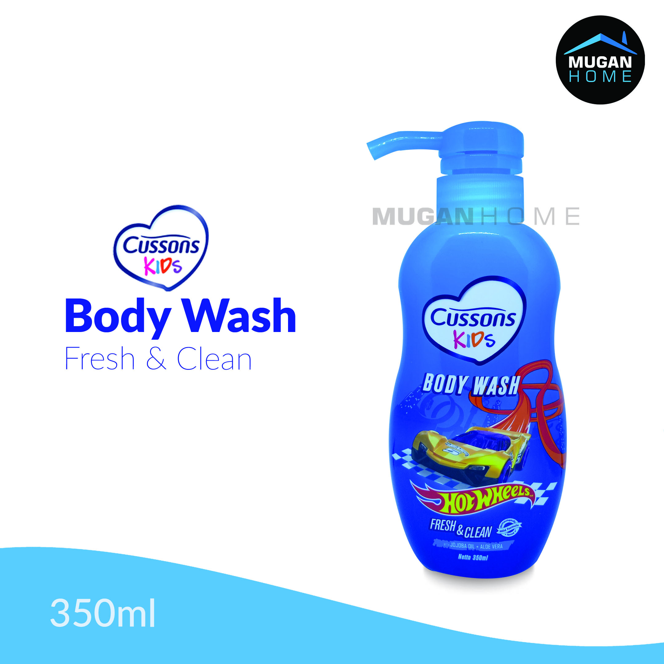 CUSSONS KIDS BODY WASH 350ML FRESH & CLEAN HOTWHEELS PUMP