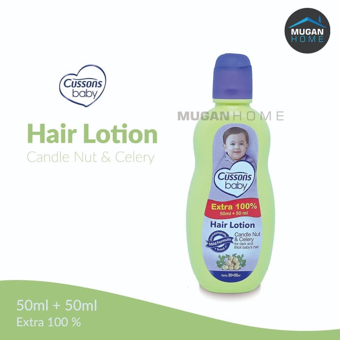 CUSSONS BABY HAIR LOTION 50ML CANDLE NUT & CELERY EXTRA 100% 50ML