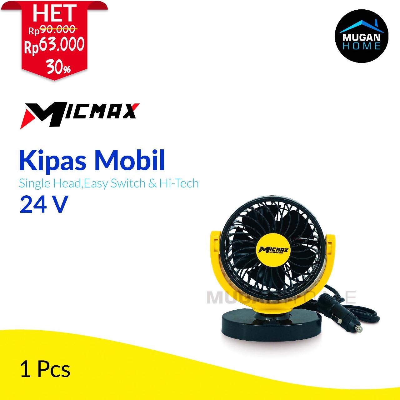 MICMAX SINGLE HEAD VEHICLE FAN 24V MX-S624